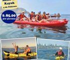 Fun kayaking along the southern Costa Verde in Lima