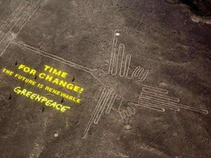 Greenpeace activist Wolfgang Sadik sentenced to prison on probation for entering and damaging Peru's famous Nazca Lines