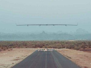 Facebook's solar-powered, unmanned airplane that in the near futures is supposed to bring internet to the remotest parts of the world; photo: FB